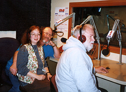 Talis, Tom and Dave in the studio on the air