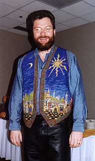 Simon smiles during the OVFF banquet in his splendiferous vest
